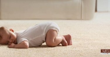 Baby on Home Depot SoftSpring Carpet