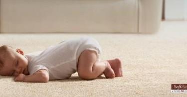 Baby on Home Depot SoftSpring Carpet