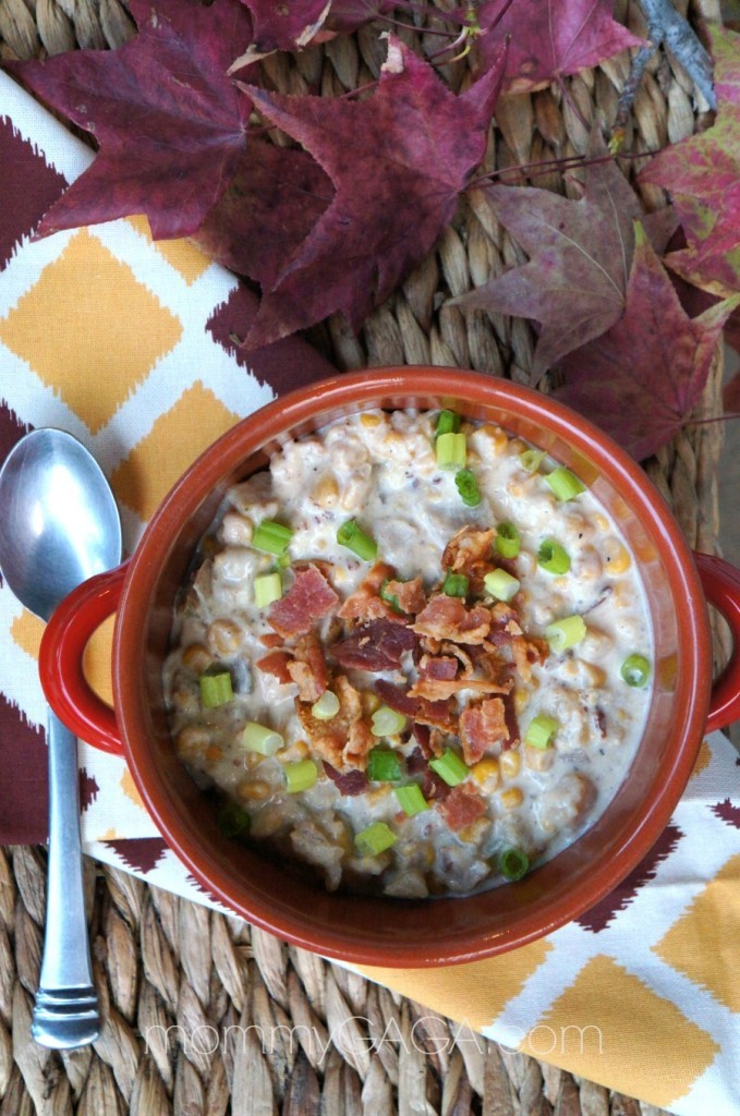 Slow cooker soup with ham and bacon - slow cooker bacon corn chowder