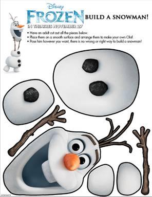 disney frozen build a snowman - Fun Printables For Kids