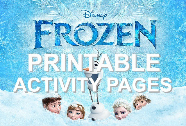 Disney's FROZEN movie printable coloring pages and activities