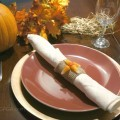 Easy fall table place setting Starburst Candy Corn Napkin Holders
