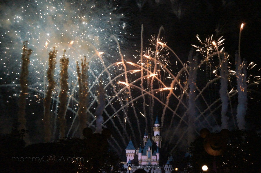 Halloween Screams Fireworks show at Disneyland, Mickey's Halloween Party