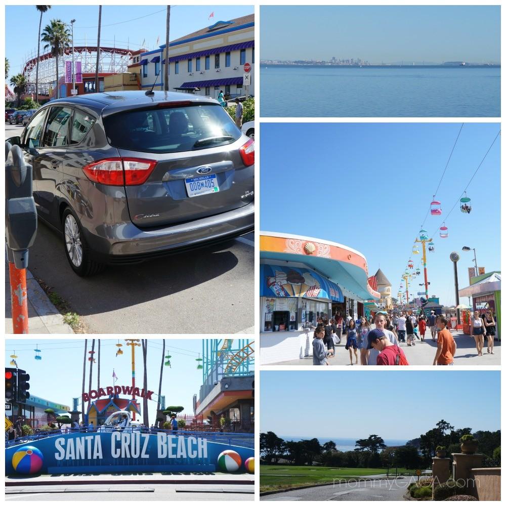 Road Trip in Ford C-Max car, Santa Cruz beach, San Francisco, California