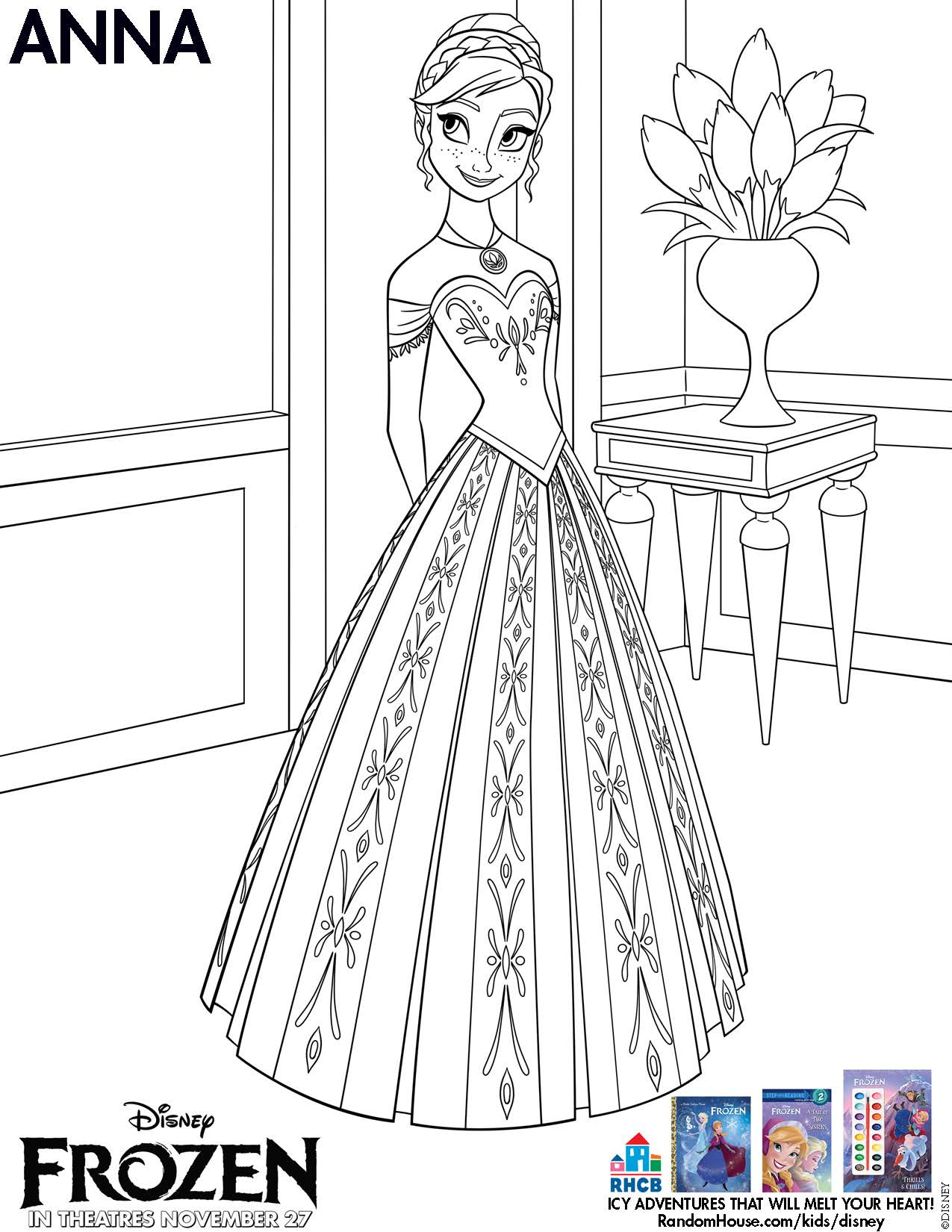 Disneys FROZEN Movie Printable Coloring Pages And Activity Sheets