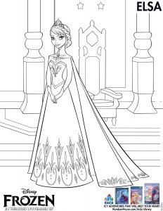 Disney's Frozen movie printable coloring pages - Elsa