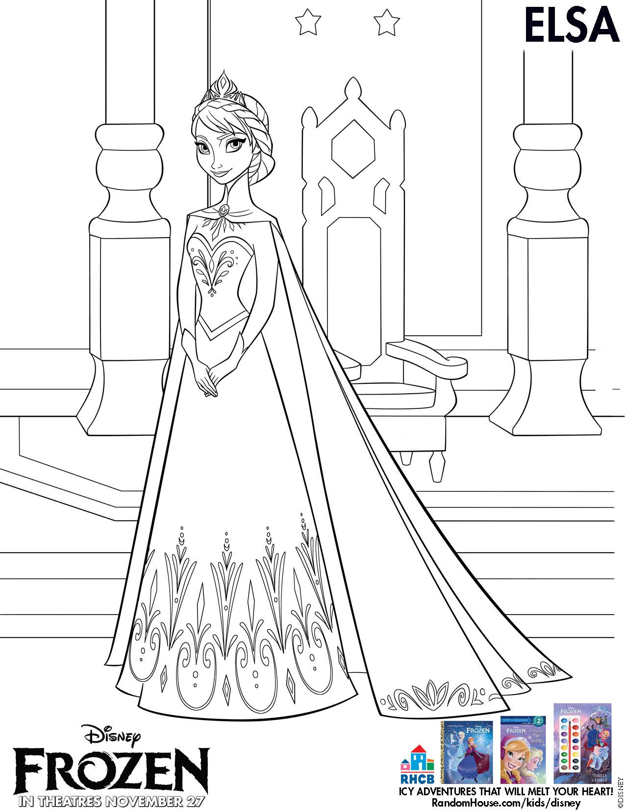 Disney\'s FROZEN Movie Printable Coloring Pages and Activity Sheets!