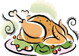 thanksgiving turkey dinner clipart