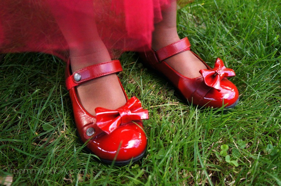 Bumbums and baubles girls cherry red mary janes shoes