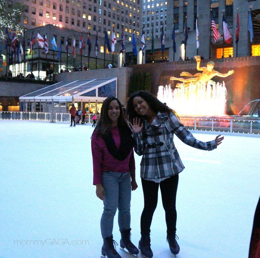 Caryn Bailey, Deanna Underwood, Rockefeller Center ice rink