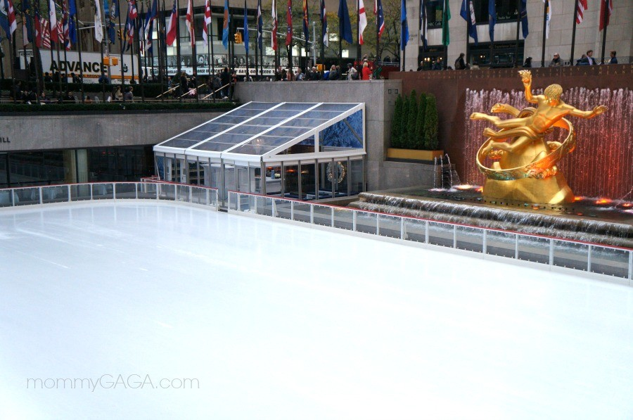 Ice rink at Rockefeller Center, New York