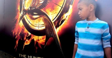 Young Reporter MJ for mommyGAGA.com for the Hunger Games Catching Fire fan event in Los Angeles