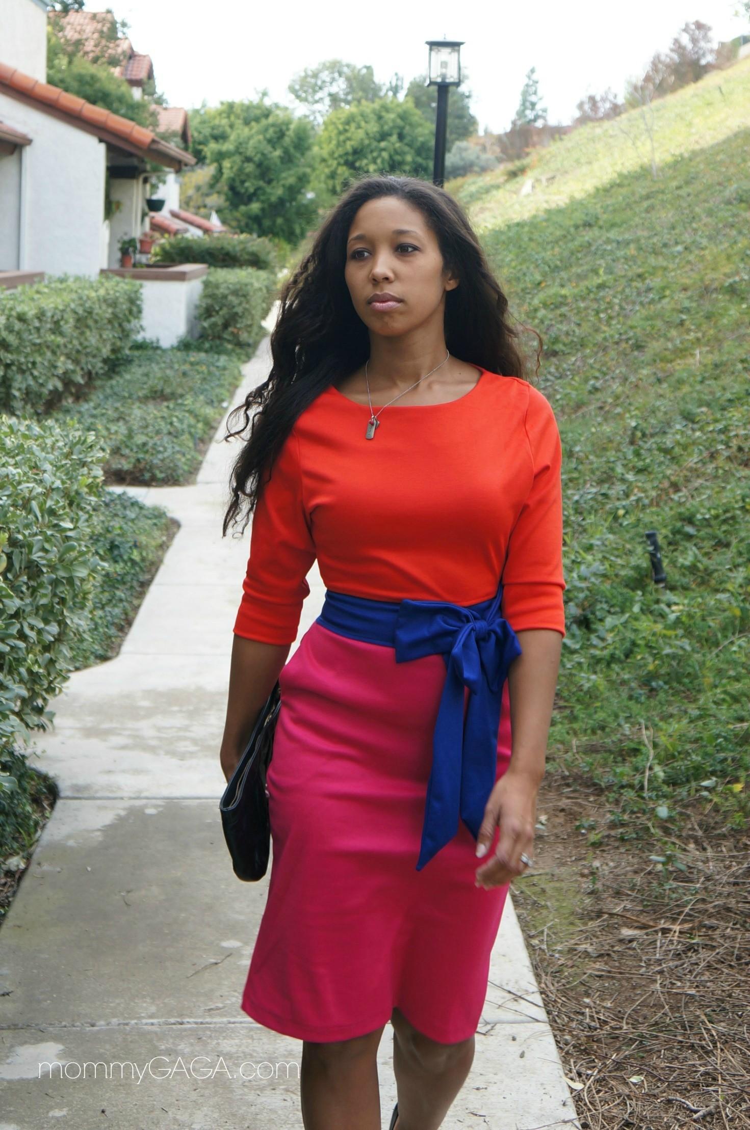 Shabby Apple women's dresses - Casual chic color block dress