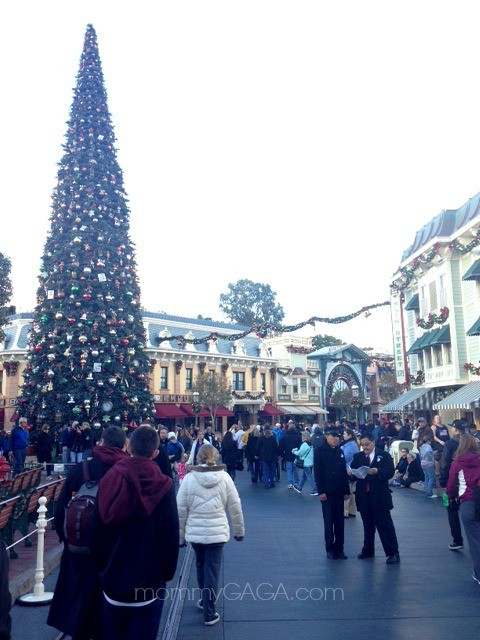 Christmas tree on Main Street, Disneyland Holidays