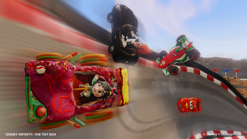 Disney Infinty Toy Box- Cars characters racing with Vanellope, Wreck it Ralph