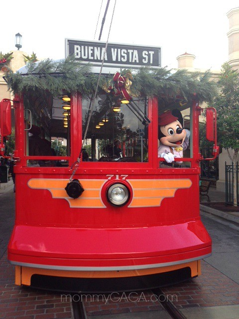 Mickey Mouse on the Buena Vista Street Red Trolley Car, Disney's California Advenutre