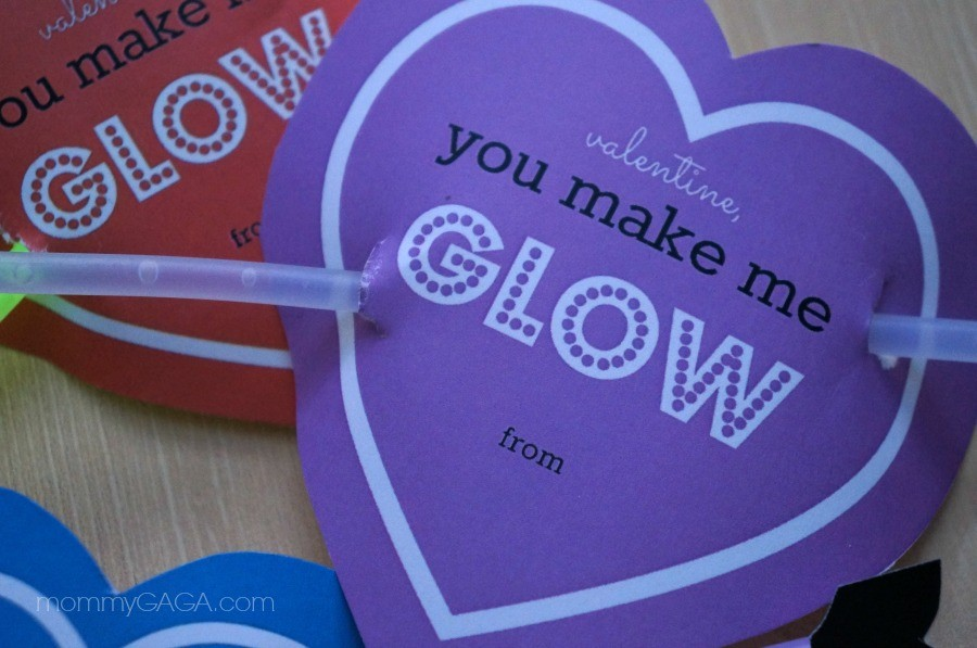 DIY You Make Me Glow Valentines for Kids