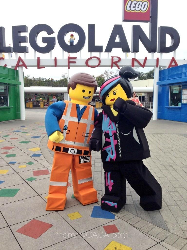 Emmett and WyldStyle at Legoland California