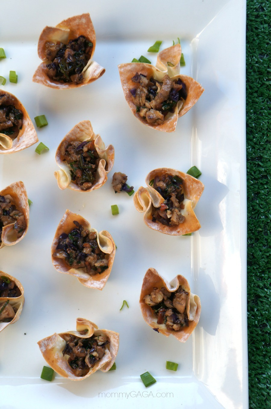 Thai Chicken Appetizer: Thai Chicken Wonton Cups Recipe