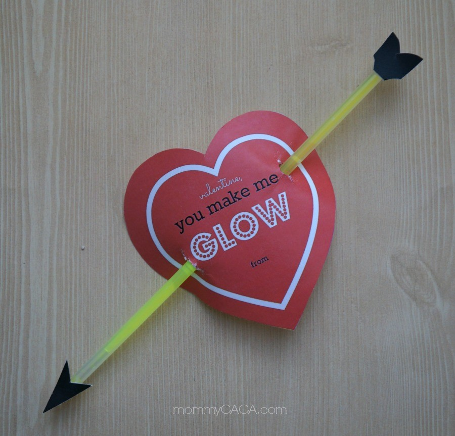 Homemade Cupid's Bow Heart Valentines