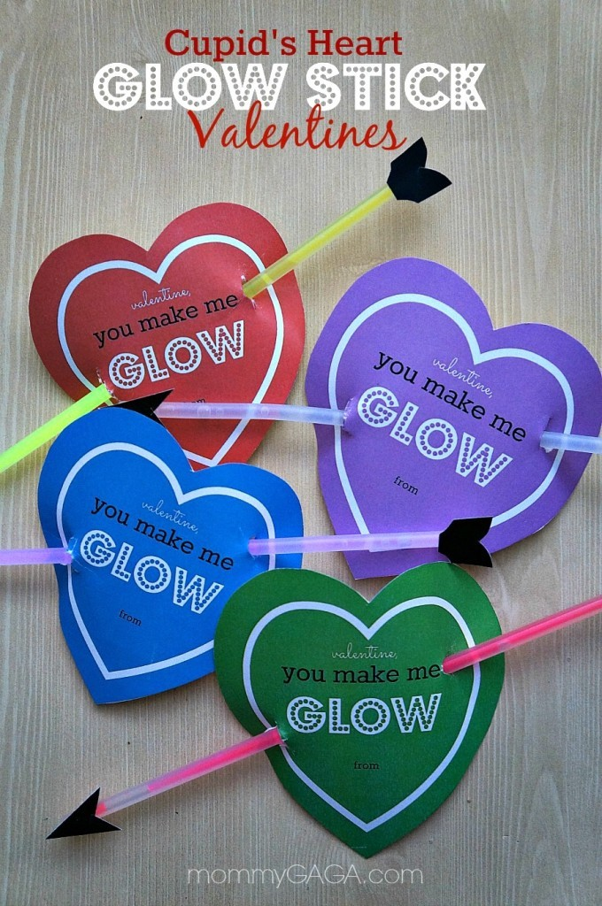 Cupid's Heart Glow Stick Valentine - Honey & Lime