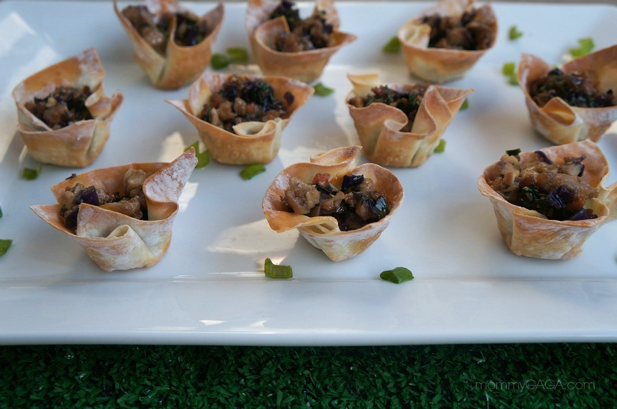 Mini Thai Wonton Cups Appetizer Recipe