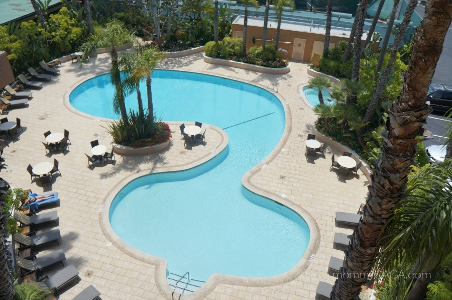 Outdoor pool, Radisson hotel, Newport Beach, California