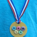 Crafts for Toddlers, Olympic Medal with Fruit Loops