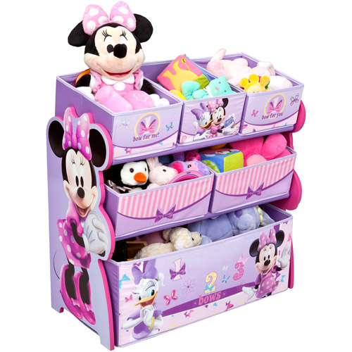 disney baby minnie mouse multi bin toy organizer