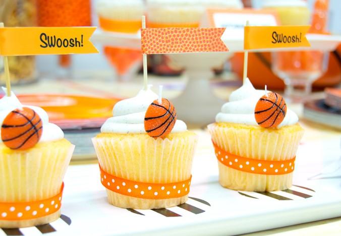 Slam dunk march madness basketball birthday party ideas for Basketball craft party ideas