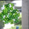 Green Stained Glass Tissue Paper Shamrock Craft for St Patricks Day