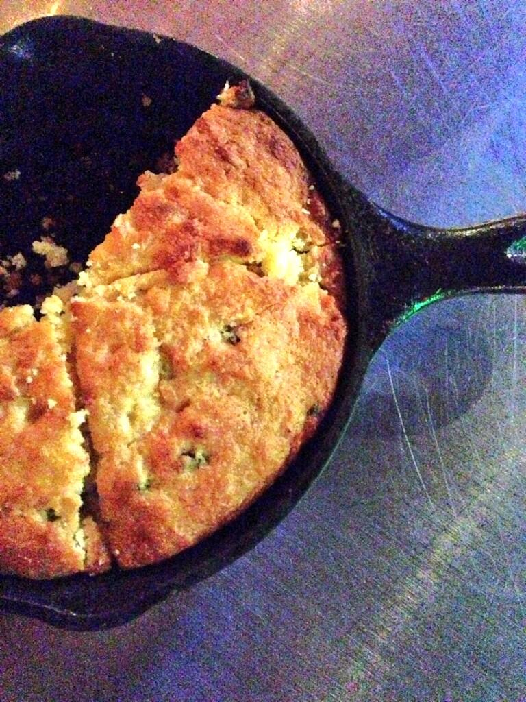 House of Blues jalapeno skillet corn bread, maple butter