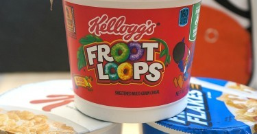 Kellogg's single-serve cereal bowls, great for travel
