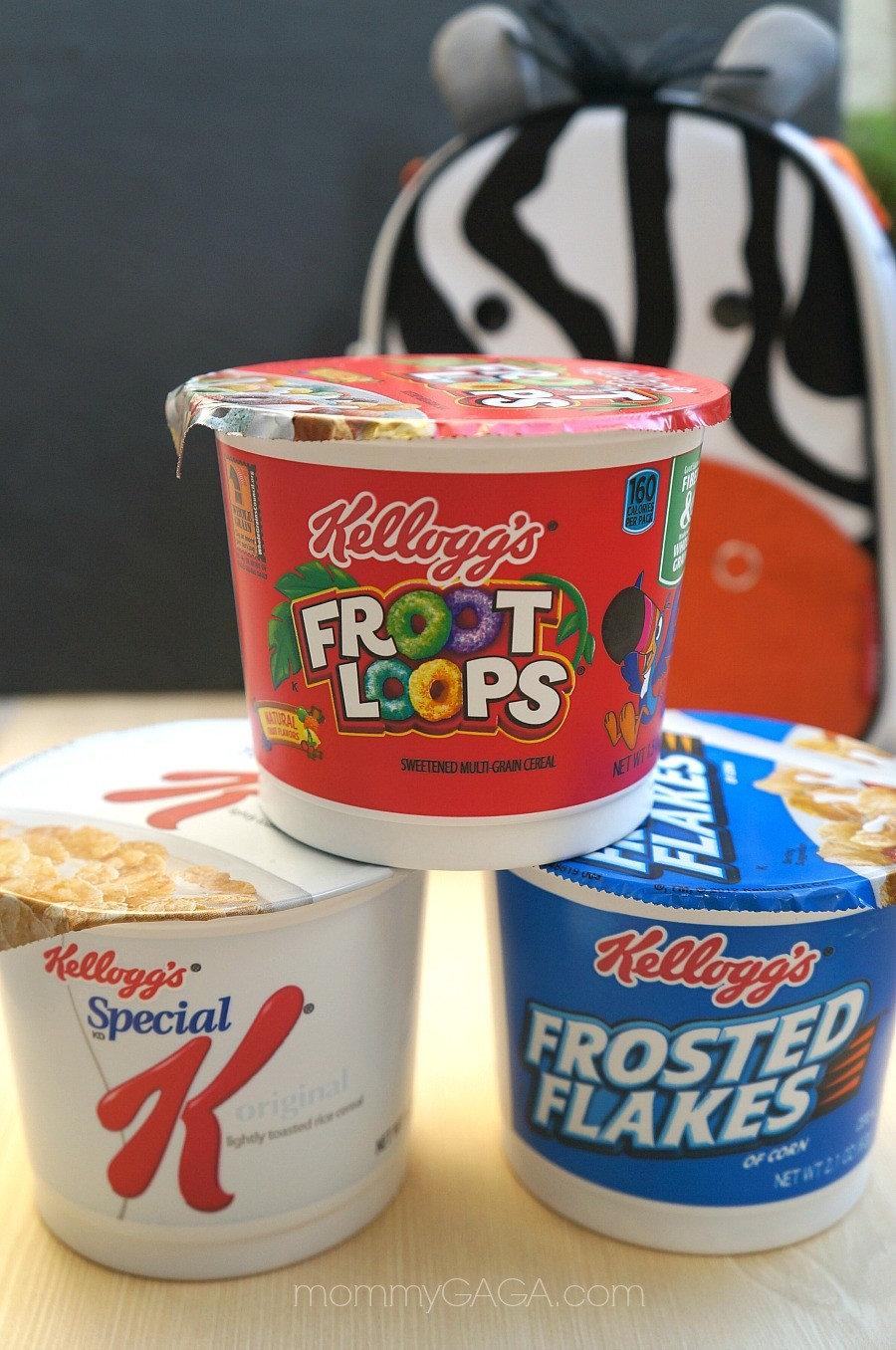 Breakfast for lunch - Kellogg's single serve cereal bowls are perfect for lunch boxes