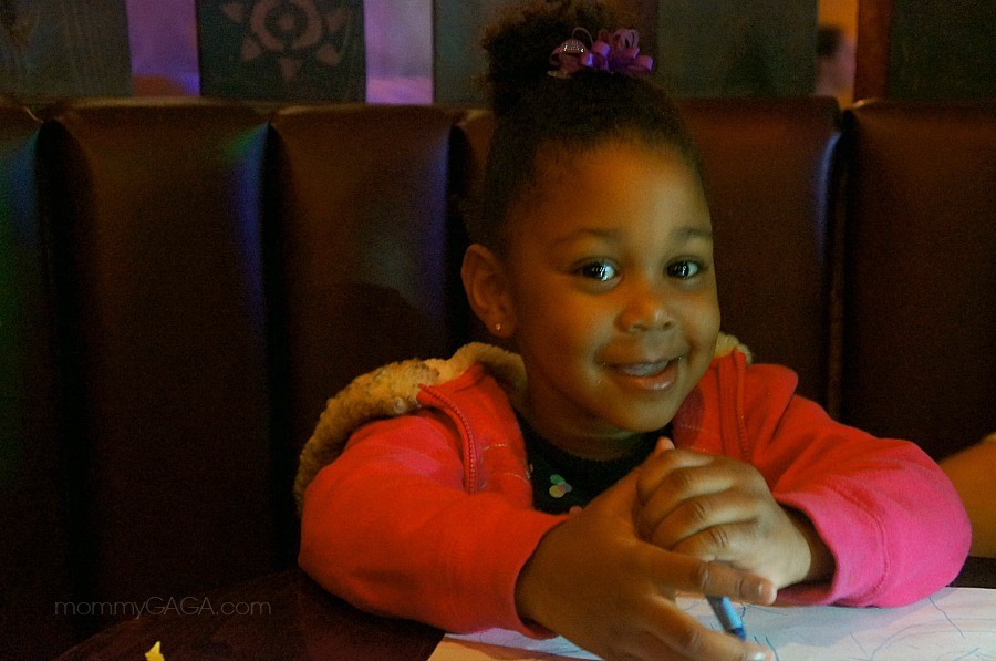 Little girl at House of Blues Restaurant