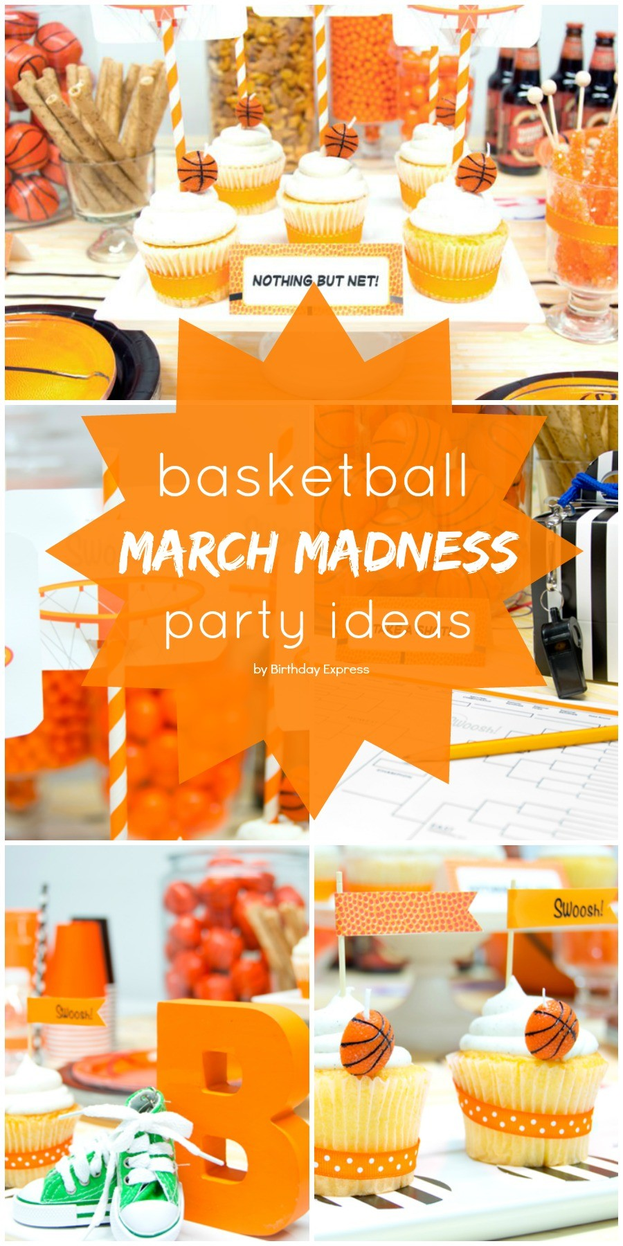 March madness basketball birthday party ideas honey lime for Basketball craft party ideas
