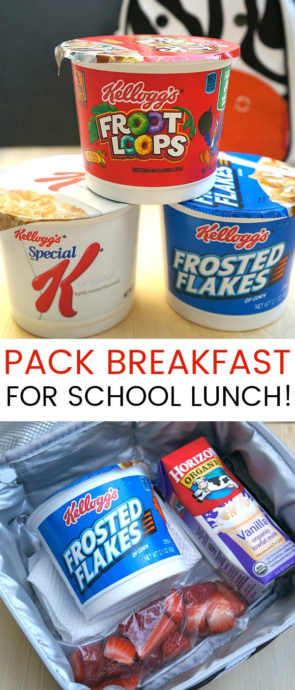 School Lunchbox Ideas- Pack Breakfast Cereal for Lunch!
