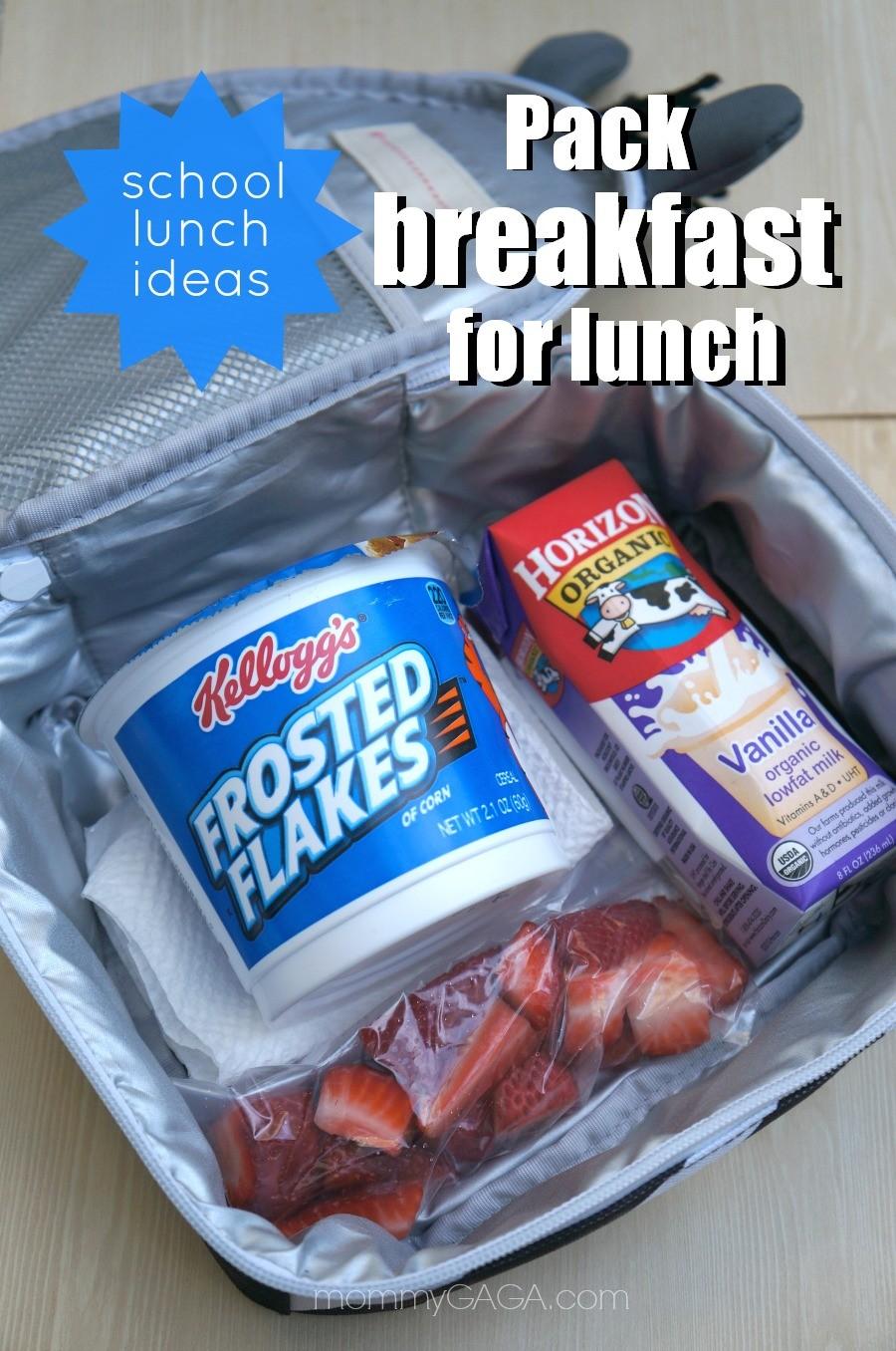School lunch ideas, pack breakfast for lunch!