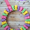 DIY Easter Wreath with PEEPS
