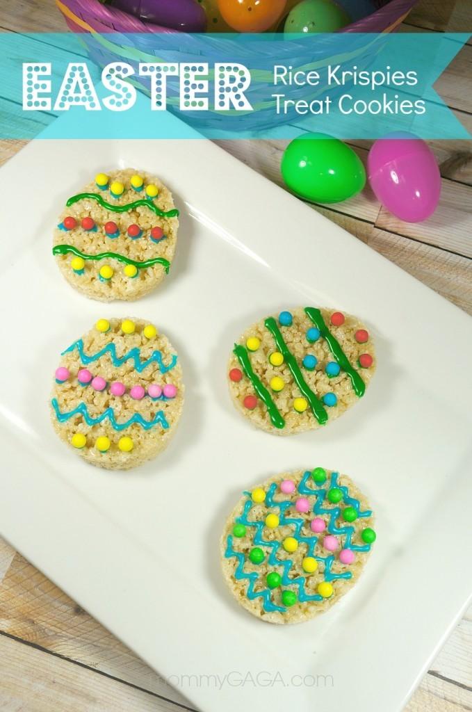 Easter Party Treats, Easter Rice Krispies Treat Cookies