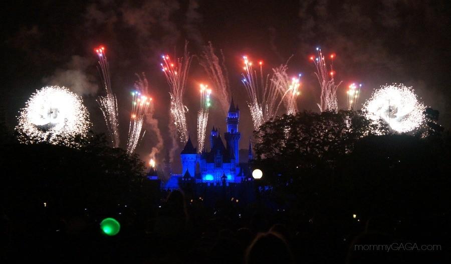 Fireworks show at The Disneyland Resort, Anaheim, California