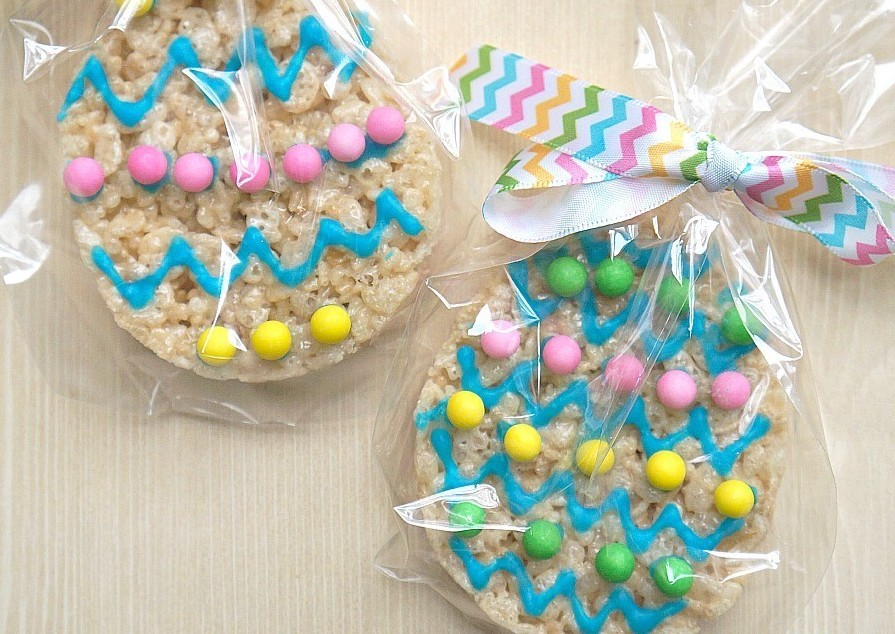 Easter egg rice krispies treats recipe fun easter party favor ideas negle Gallery