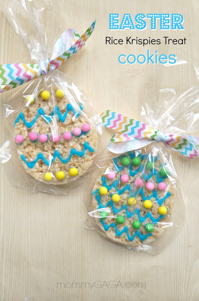 Handmade Easter Party Favors, Rice Krispies Treat Cookies