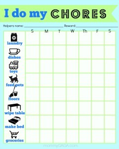 10 chores for preschoolers a printable chore chart honey lime