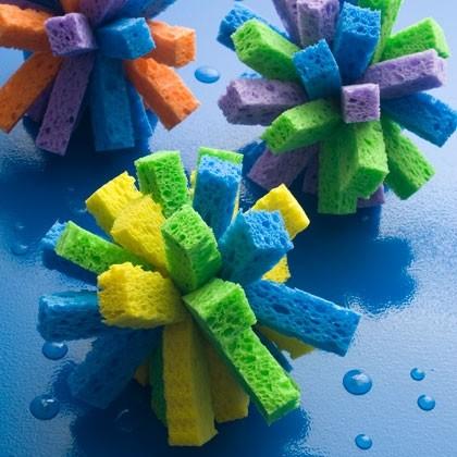 Sponge ball summer craft