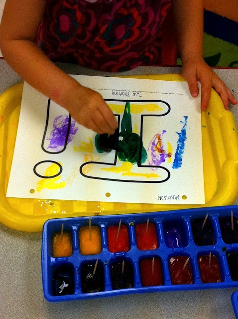 ice painting summer craft for kids