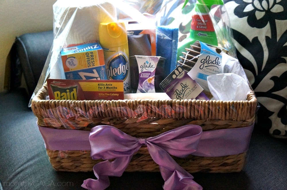 DIY Housewarming Gift Basket using Glade® Fragrance Products