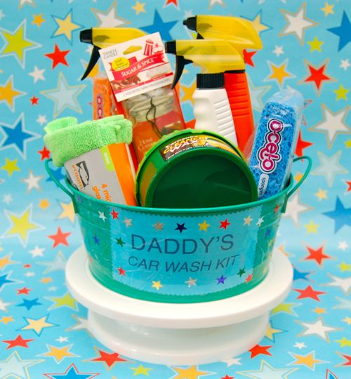 Dad's DIY car wash kit gift