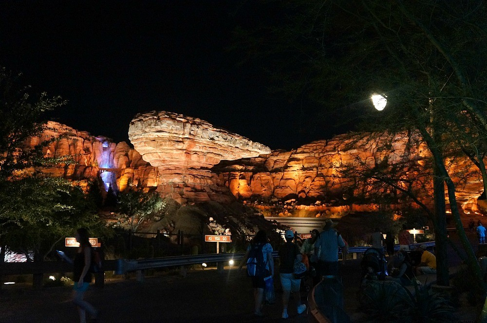 Architecture rock formations in CARSLAND near Radiator Springs Racers, Disney's California Adventure Theme Park
