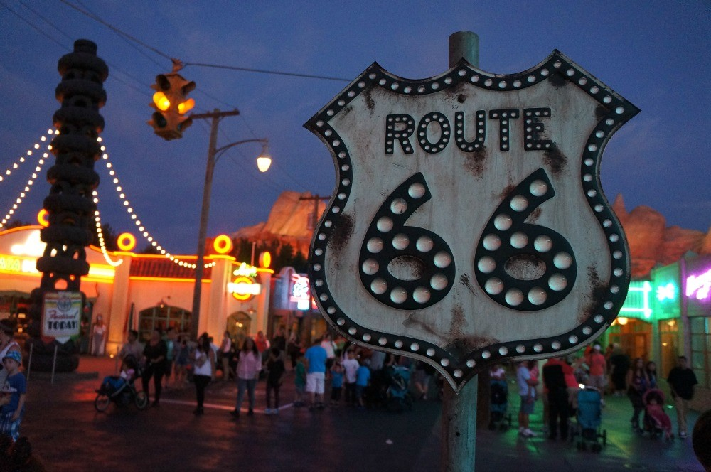 Get your kicks on Route 66, Carsland, Disney's California Adventure